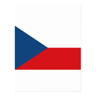 Czech Republic Flag CZ Postcard