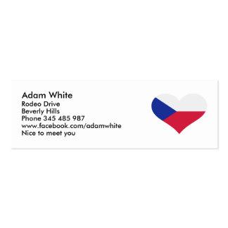 Czech Republic flag heart Business Card Template