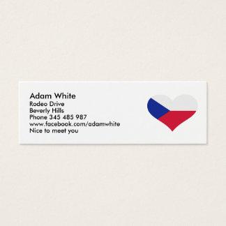 Czech Republic flag heart Mini Business Card