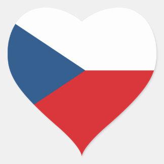 Czech Republic Flag Heart Sticker
