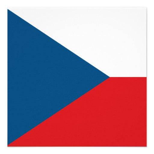 Czech Republic Flag Invitation