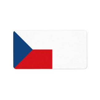 Czech Republic Flag Label