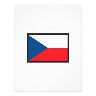 CZECH REPUBLIC FLAG LETTERHEAD DESIGN