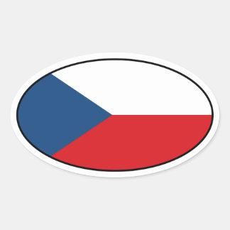 Czech Republic Flag Oval Sticker
