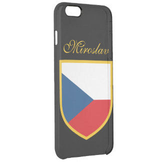 Czech Republic Flag Personalized Clear iPhone 6 Plus Case
