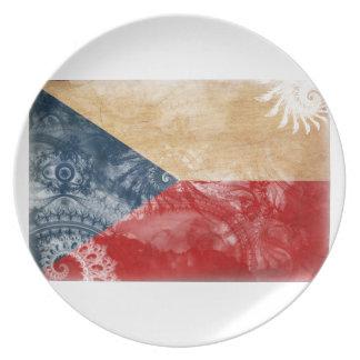 Czech Republic Flag Party Plates