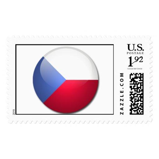 czech republic flag postage