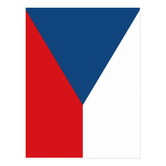 Czech Republic Flag Postcard