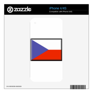 Czech Republic Flag Skins For The iPhone 4S