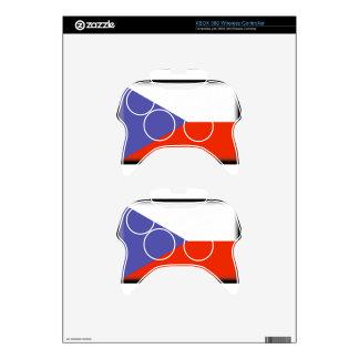 Czech Republic Flag Xbox 360 Controller Skin