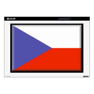 "Czech Republic Flag Skin For 17"" Laptop"