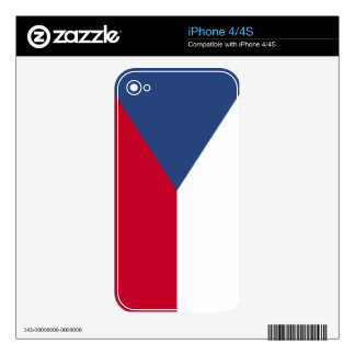 Czech Republic Flag Skins For The iPhone 4