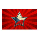 Czech Republic Flag Star with Rays of Light Business Card Templates