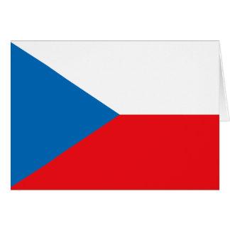 Czech Republic Flag Stationery Note Card