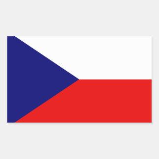Czech Republic flag Rectangular Sticker