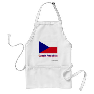 Czech Republic Flag with Name Aprons