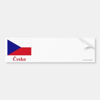 Czech Republic Flag with Name in Czech Bumper Sticker