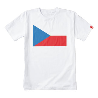 Czech Republic Flag Zazzle HEART T-Shirt