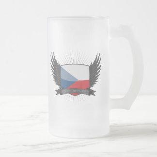 CZECH_REPUBLIC FROSTED GLASS BEER MUG