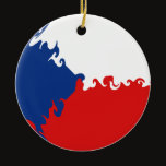 Czech Republic Gnarly Flag Ceramic Ornament