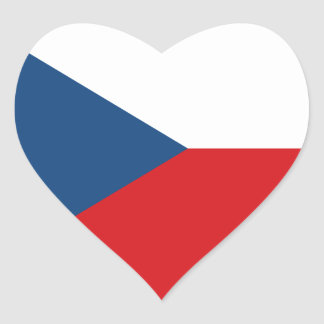 Czech Republic Heart Flag Heart Sticker
