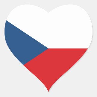 czech republic heart sticker