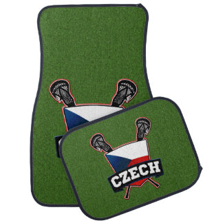 Czech Republic Lacrosse Logo Car Floor Mat