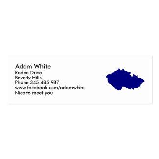 Czech Republic map Business Card Templates