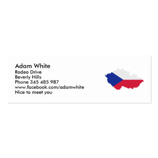 Czech Republic map flag Business Card Templates