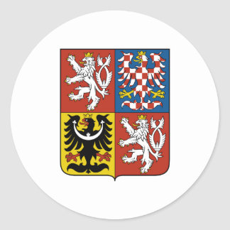 Czech Republic Official Coat Of Arms Heraldry Classic Round Sticker