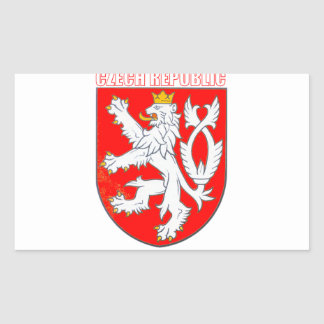 Czech Republic Rectangular Sticker