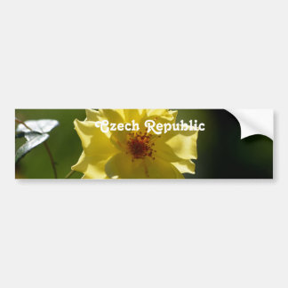 Czech Republic Roses Bumper Stickers