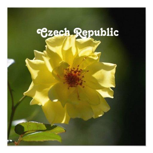 Czech Republic Roses Invite