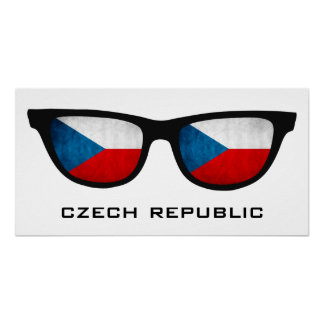 Czech Republic Shades custom text & color poster