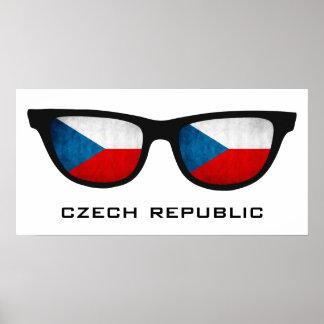 Czech Republic Shades custom text & color poster