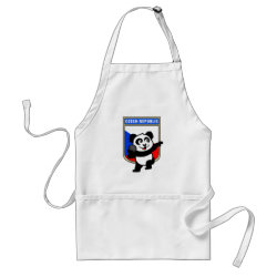 Apron with Czech Shot Put Panda design