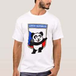 Men's Basic T-Shirt with Czech Shot Put Panda design