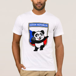 Men's Basic American Apparel T-Shirt with Czech Shot Put Panda design