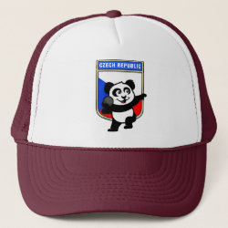 Trucker Hat with Czech Shot Put Panda design