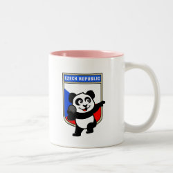 Two-Tone Mug with Czech Shot Put Panda design
