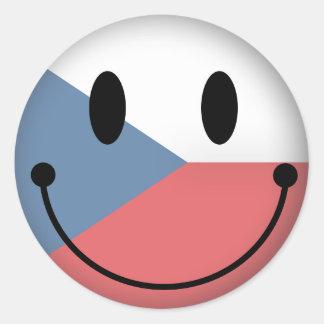 Czech Republic Smiley Classic Round Sticker