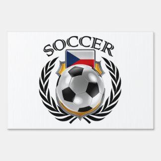 Czech Republic Soccer 2016 Fan Gear Lawn Sign