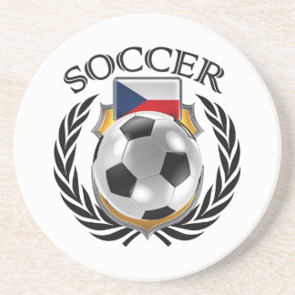 Czech Republic Soccer 2016 Fan Gear Sandstone Coaster