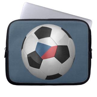 Czech Republic Soccer Ball Laptop Computer Sleeves