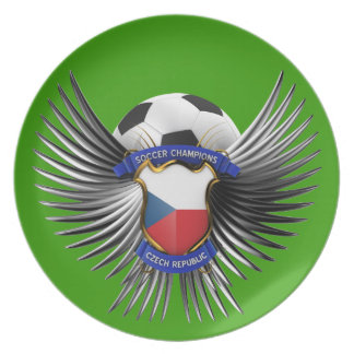 Czech Republic Soccer Champions Party Plates