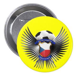 Czech Republic Soccer Champions Pinback Button