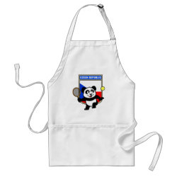 Apron with Czech Tennis Panda design