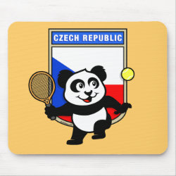 Mousepad with Czech Tennis Panda design