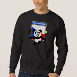 Men's Basic Sweatshirt with Czech Tennis Panda design