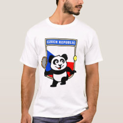Men's Basic T-Shirt with Czech Tennis Panda design
